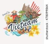 travel to vietnam. set of... | Shutterstock .eps vector #478099864
