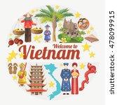 travel to vietnam. set of... | Shutterstock .eps vector #478099915