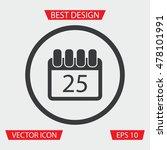 calendar icon | Shutterstock .eps vector #478101991