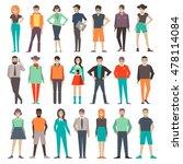 people. set. characters. vector ...   Shutterstock .eps vector #478114084