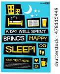 a day well spent brings happy... | Shutterstock .eps vector #478115449
