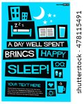 a day well spent brings happy... | Shutterstock .eps vector #478115491