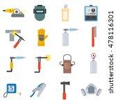 welding icons set. welding... | Shutterstock .eps vector #478116301