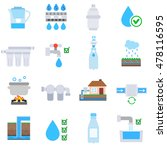 water purification icons set.... | Shutterstock .eps vector #478116595