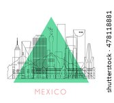 outline mexico skyline with... | Shutterstock .eps vector #478118881