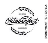 oktoberfest beer festival... | Shutterstock .eps vector #478120165