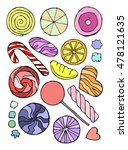 caramel candy set vector... | Shutterstock .eps vector #478121635