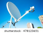 satellite dish fitted with the... | Shutterstock . vector #478123651