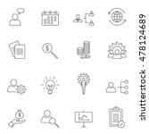 business icon set outline... | Shutterstock .eps vector #478124689