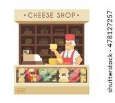 The Cheese Shop. Vector...