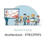 linear flat business coach and... | Shutterstock .eps vector #478129591