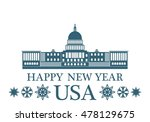 happy new year united states of ... | Shutterstock .eps vector #478129675
