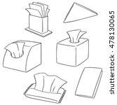 vector set of tissue paper | Shutterstock .eps vector #478130065