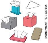 vector set of tissue paper | Shutterstock .eps vector #478130155