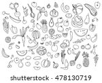 hand drawn vegetables doodle... | Shutterstock . vector #478130719