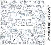 hand drawn travel  tourism... | Shutterstock . vector #478130914