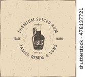 vintage handcrafted pirate rum... | Shutterstock .eps vector #478137721