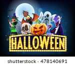 Stock vector halloween banner 478140691