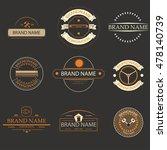 retro vintage logo  brands logo ... | Shutterstock .eps vector #478140739