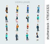 flat people diverse by job  sex ... | Shutterstock .eps vector #478141321