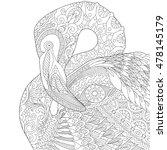 stylized flamingo bird ...   Shutterstock .eps vector #478145179