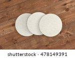 white round coasters. isolated... | Shutterstock . vector #478149391