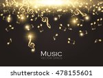 falling notes. abstract elegant ... | Shutterstock .eps vector #478155601