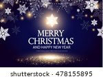 shining christmas background.... | Shutterstock .eps vector #478155895