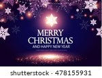 shining christmas background.... | Shutterstock .eps vector #478155931