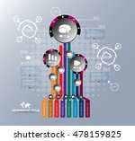 infographic design template | Shutterstock .eps vector #478159825