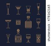 bar crystal glasses vector... | Shutterstock .eps vector #478162165