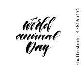 World Animal Day Card. Hand...