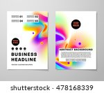 cover template with abstract... | Shutterstock .eps vector #478168339