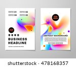 cover template with abstract... | Shutterstock .eps vector #478168357