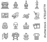 Museum Icons Set. Museum...