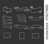 vintage tape. set | Shutterstock .eps vector #478174885