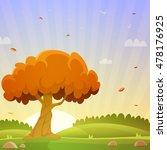 autumn countryside landscape | Shutterstock .eps vector #478176925
