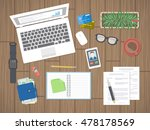 workplace in office. work in a... | Shutterstock .eps vector #478178569