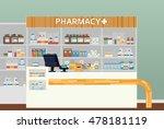 medical pharmacy or drugstore... | Shutterstock .eps vector #478181119