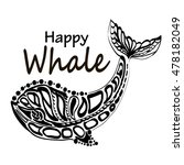 ethnic style ornament whale.... | Shutterstock .eps vector #478182049