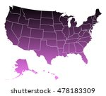 map of usa | Shutterstock .eps vector #478183309