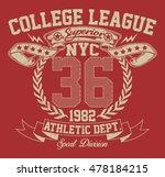 new york city sport typography  ... | Shutterstock .eps vector #478184215