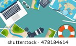 travel and tourism. flat style. ... | Shutterstock . vector #478184614