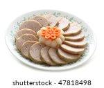 Small photo of Dish of Vietnamese Ham and Allium Chinense