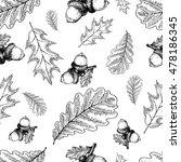 vector seamless pattern of oak...   Shutterstock .eps vector #478186345