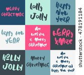 set of 9 decorative xmas... | Shutterstock .eps vector #478191184