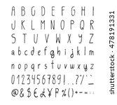 handwritten simple vector...   Shutterstock .eps vector #478191331