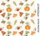 thanksgiving seamless pattern... | Shutterstock .eps vector #478206619
