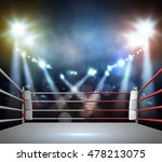 boxing ring with illumination... | Shutterstock . vector #478213075
