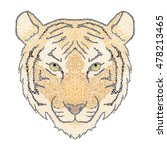 figured decorative mosaic tiger ... | Shutterstock .eps vector #478213465